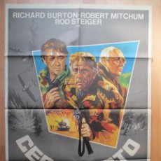 Cine: CARTEL CINE, CERCO ROTO, RICHARD BURTON, ROBERT MITCHUM, 1979, C480. Lote 48983903