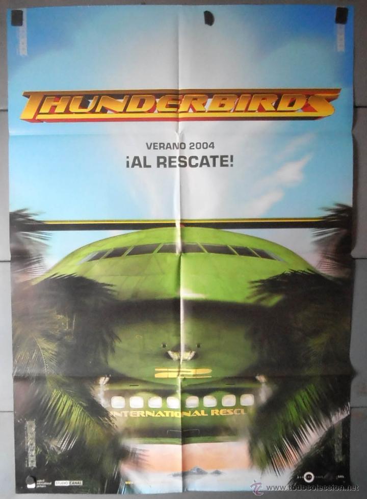 (13287)THUNDERBIRDS , CARTEL DE CINE ORIGINAL 70X100 APROX,CONSERVACION,VER FOTO (Cine - Posters y Carteles - Infantil)
