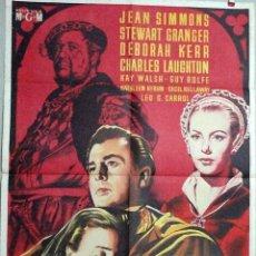 Cine: LA REINA VIRGEN 1953 JEAN SIMMONS++ STEWARD GRANGER +++ LAUGHTHON. Lote 49033402