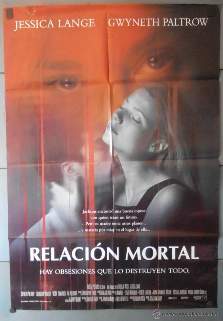 RELACION MORTAL,CARTEL DE CINE ORIGINAL 70X100 CM CON ALGUN DEFECTO A 1€,VER FOTO (13108) (Cine - Posters y Carteles - Suspense)