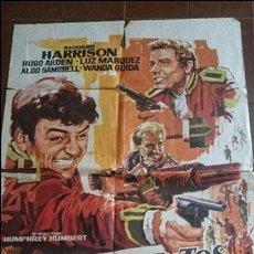 Cine: CARTEL DE CINE - MOVIE PÓSTER - TRES SARGENTOS BENGALÍES - AÑO 1973 . Lote 49057317