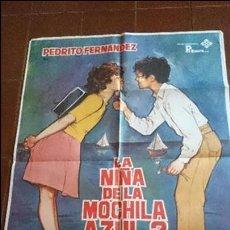 Cine: CARTEL DE CINE - MOVIE PÓSTER - LA NIÑA DE LA MOCHILA AZUL 2- AÑO 1981 . Lote 49051521