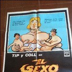 Cine: CARTEL DE CINE -MOVIE PÓSTER - EL SEXO ATACA - CON TIP Y COLL . Lote 49051592