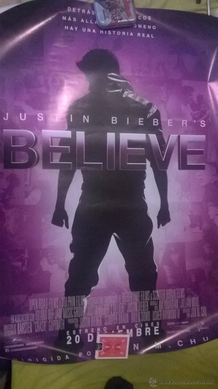 POSTER JUSTIN BIEBER'S BELIEVE.ORIGINAL CINE 70X100 (Cine - Posters y Carteles - Documentales)