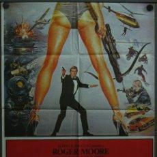 Cine: QP56D SOLO PARA SUS OJOS JAMES BOND 007 ROGER MOORE POSTER ORIGINAL 70X100 ESTRENO. Lote 49215521