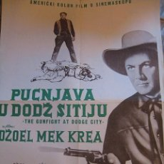 Cine: EL SHERIFF DE DODGE CITY CARTEL ORIGINAL YUGOSLAVIA MACEDONIA JOEL MCCREA JULIE ADAMS. Lote 49339826