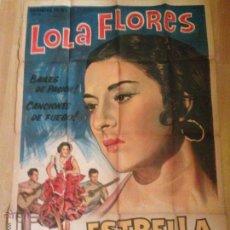 Cine: CARTEL O PÓSTER DE ESTRELLA DE SIERRA MORENA.LOLA FLORES . Lote 49367233
