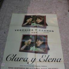 Cine: CARTEL CINE ORIGINAL CLARA Y ELENA. Lote 49400439
