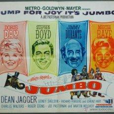 Cine: QP69 JUMBO DORIS DAY CIRCO POSTER ORIGINAL AMERICANO 55X70. Lote 49465100