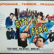 Cine: QP77 CITY OF FEAR MARISA MELL TERRY MOORE PAUL MAXWELL POSTER ORIGINAL AMERICANO 55X70. Lote 49465331
