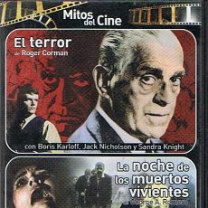 Cine: DVD EL TERROR & LA NOCHE DE LOS MUERTOS VIVIENTES . Lote 49488203