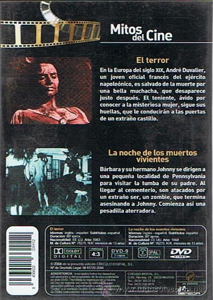 Cine: DVD EL TERROR & LA NOCHE DE LOS MUERTOS VIVIENTES - Foto 2 - 49488203