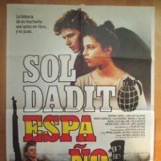 Cine: CARTEL CINE, SOLDADITO ESPAÑOL, MARIBEL VERDU, JUAN LUIS GALIARDO, C569. Lote 49561071