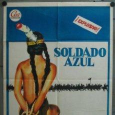 Cine: WB04 SOLDADO AZUL CANDICE BERGEN PETER STRAUSS POSTER ORIGINAL 70X100 ESTRENO. Lote 49575826