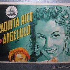 Cine: SUSPIROS DE TRIANA - PAQUITA RICO Y ANGELILLO - LITOGRAFIA - PERIS ARAGO - VER DESCRIPCION. Lote 120394946