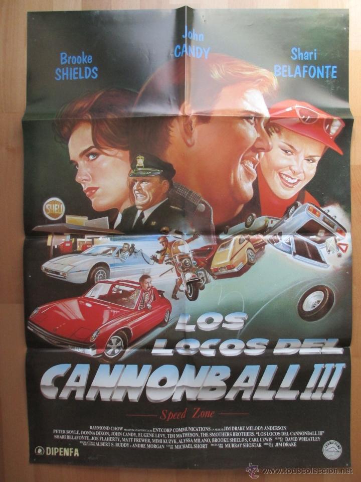 CARTEL CINE, LOS LOCOS DEL CANNONBALL III, BROOKE SHIELDS, JOHN CANDY, C629 (Cine - Posters y Carteles - Comedia)