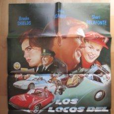 Cine: CARTEL CINE, LOS LOCOS DEL CANNONBALL III, BROOKE SHIELDS, JOHN CANDY, C629. Lote 49655105