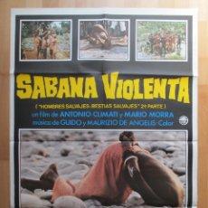 Cinema: CARTEL CINE, SABANA VIOLENTA, ANTONIO CLIMATI, MARIO MORRA, 1979, C636. Lote 49655533