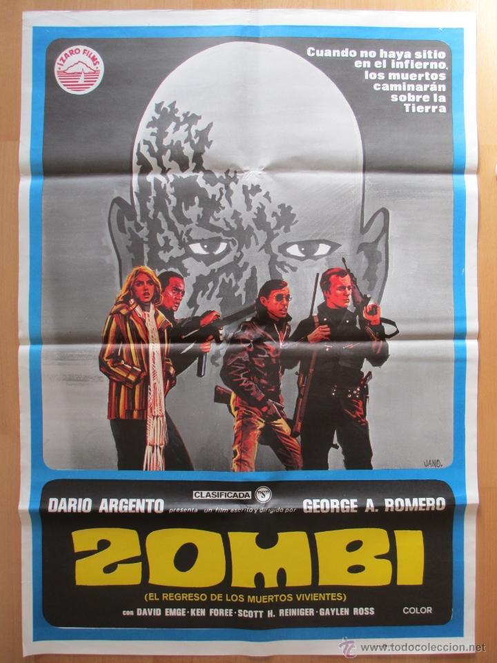 CARTEL CINE, ZOMBI, EL REGRESO DE LOS MUERTOS VIVIENTES, DARIO ARGENTO, JANO, 1978, C385 (Cine - Posters y Carteles - Terror)