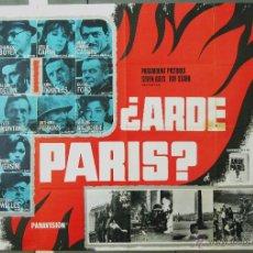 Cine: WB75 ARDE PARIS ALAIN DELON KIRK DOUGLAS BELMONDO JR POSTER ORIGINAL 2 HOJAS 87X125 ESTRENO. Lote 49756236