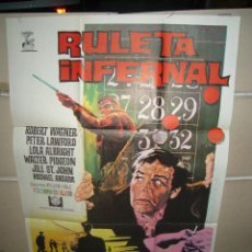 Cine: RULETA INFERNAL ROBERT WAGNER PETER LAWFORD POSTER ORIGINAL 70X100 YY (1097). Lote 49762265