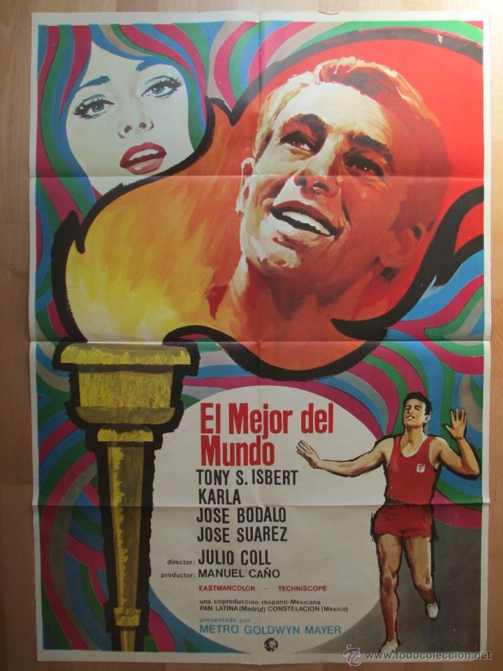 CARTEL CINE, EL MEJOR DEL MUNDO, TONY S. ISBERT, KARLA, 1969, C680 (Cine - Posters y Carteles - Deportes)