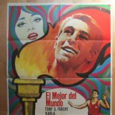 Cine: CARTEL CINE, EL MEJOR DEL MUNDO, TONY S. ISBERT, KARLA, 1969, C680. Lote 49773162