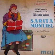 Cine: MI ÚLTIMO TANGO CARTEL ORIGINAL YUGOSLAVIA SARA MONTIEL ISABEL GARCÉS LUIS CÉSAR AMADORI SARITA . Lote 49786237