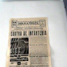 Cine: CUARTO DE INFANTERIA 1930 WESTFRONT 1918 G.- GUION LADISLAO VAJDA CARTEL CINE ORIGINAL TEXT CATALÀ. Lote 49828360