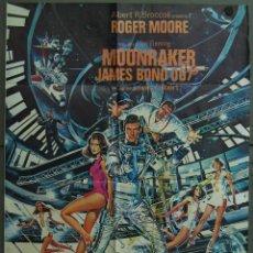 Cine: WD59 MOONRAKER JAMES BOND 007 ROGER MOORE POSTER ORIGINAL 70X100 ESTRENO. Lote 49996191