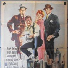 Cine: (13551) 4 GANGSTERS DE CHICAGO,FRANK SINATRA,DEAN MARTIN,SAMMY DAVIS, JANO,CARTEL DE CINE ORIGINAL 7. Lote 50087769