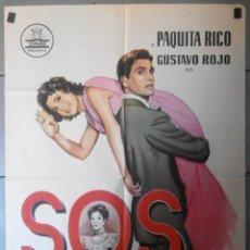 Cine: (13585) SOS ABUELITA,PAQUITA RICO,GUSTAVO ROJO,CARTEL DE CINE ORIGINAL 70X100 APROX,CONSERVACION,VER. Lote 50107116