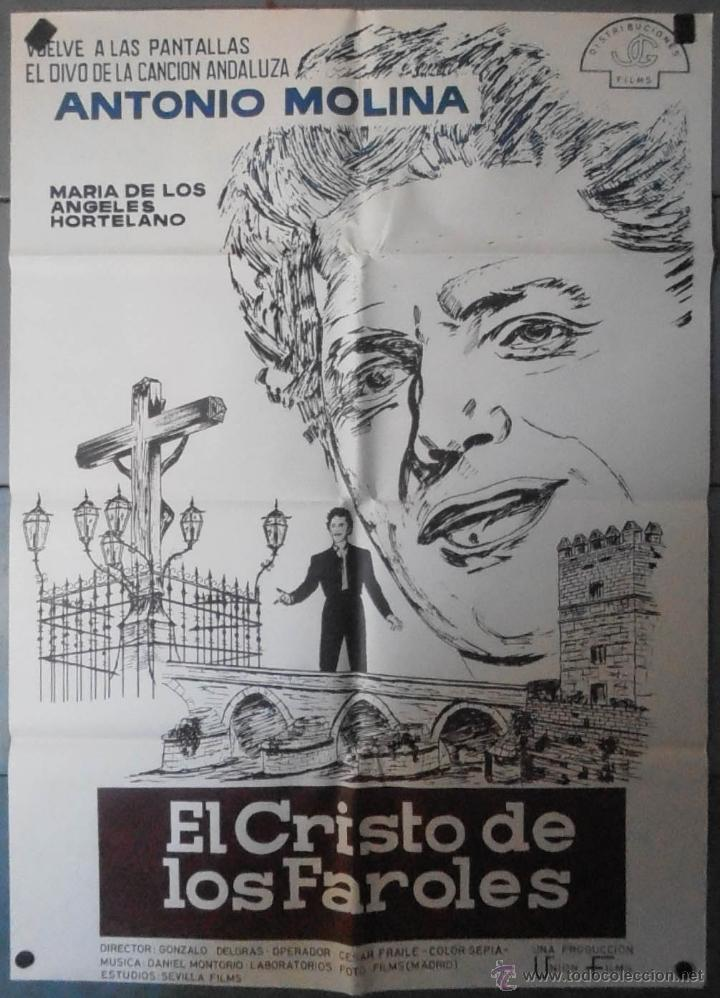 (13601) EL CRISTO DE LOS FAROLES,ANTONIO MOLINA,MARIA DE LOS ANGELES HOHORTELANO,CARTEL DE CINE ORIG (Cine - Posters y Carteles - Clasico Español)