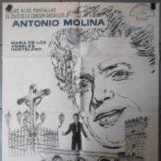 Cine: (13601) EL CRISTO DE LOS FAROLES,ANTONIO MOLINA,MARIA DE LOS ANGELES HOHORTELANO,CARTEL DE CINE ORIG. Lote 50114797