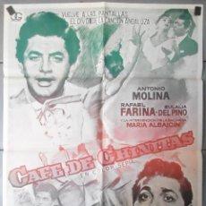 Cine: (13597) CAFE DE CHINITAS,ANTONIO MOLINA,RAFAEL FARINA,EULALIA DEL PINO,CARTEL DE CINE ORIGINAL 70X10. Lote 50523189