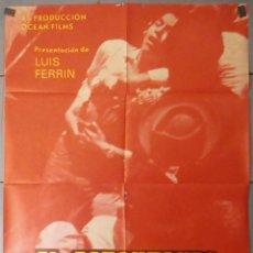 Cine: (13611) EL ESPONTANEO,FERNANDO REY,ANABEL JORDA,CARTEL DE CINE ORIGINAL 70X100 APROX,CONSERVACION,VE. Lote 50118613