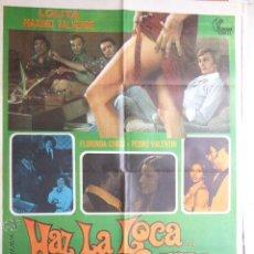 Cine: CARTEL DE CINE- MOVIE POSTER. HAZ LA LOCA.... NO LA GUERRA. 100X70 CM. Lote 50122701