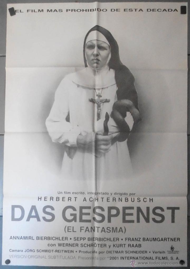 (13639) DAS GESPENST EL FANTASMA,HERBERT ACHTERNBUSCH,CARTEL DE CINE ORIGINAL 70X100 APROX,CONSERVAC (Cine - Posters y Carteles - Terror)
