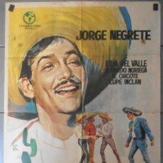 Cine: (13679) ALLA EN EL RANCHO GRANDE,JORGE NEGRETE,CARTEL DE CINE ORIGINAL 70X100 APROX,CONSERVACION,VER. Lote 50172756