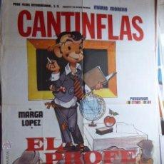 Cine: CARTEL DE CINE- MOVIE POSTER. CANTINFLAS EL PROFE. 100X70 CM. Lote 50185860