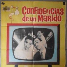 Cine: (13722) CONFIDENCIAS DE UN MARIDO,AMPARO SOLER LEAL,JOSE LUIS LOPEZ VAZQUEZ,JANO,CARTEL DE CINE ORIG. Lote 50217258