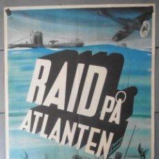 Cinema: (13788) RAID PA ATLANTEN,MISTERY SEA RIDER,HENRY WILCOXON,CARTEL DE CINE ORIGINAL 70X100 APROX,CO. Lote 50274061