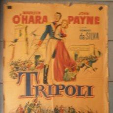 Cine: (13795) TRIPOLI,PHILIP REED,GRANT WITHERS,CARTEL DE CINE ORIGINAL 70X100 APROX,CONSERVACION,VER FOTO. Lote 50274525