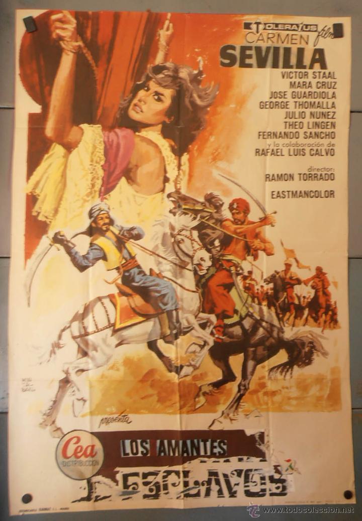 (13794) LOS AMANTES ESCLAVOS,CARMEN SEVILLA,VICTOR STAAL,MARA CRUZ,JOSE GUARDIOLA,CARTEL DE CINE ORI (Cine - Posters y Carteles - Clasico Español)