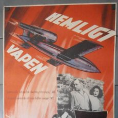 Cinema: (13789) HEMLIGT VAPEN,MICHAEL REINNE,PATRICIA MEDINA,CARTEL DE CINE ORIGINAL 70X100 APROX,CONSERVACI. Lote 50274961