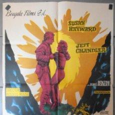 Cine: (13772) EL DESFILADERO DE LA MUERTE,SUSAN HAYWARD,JEFF CHANDELR,CARTEL DE CINE ORIGINAL 70X100 APROX. Lote 50291200