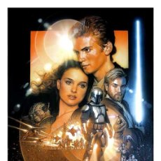 Cinema: LÁMINA POSTER STAR WARS, EL ATAQUE DE LOS CLONES. CARTEL DE CINE. 45 X 32 CMS.. Lote 139785034