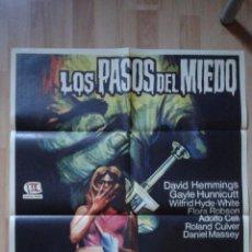 Cine: POSTER DE LA PELICULA LOS PASOS DEL MIEDO. Lote 50293607