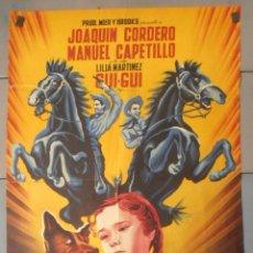 Cine: (13819) TRES VALIENTES CAMARADAS,JOAQUIN CORDERO,MANUEL CAPETILLO,CARTEL DE CINE ORIGINAL 70X100 APR. Lote 179540152