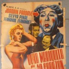 Cine: (13830) DOÑA MARIQUITA DE MI CORAZON,JOAQUIN PARDAVE,SYLVIA PINAL,CARTEL DE CINE ORIGINAL 70X100 APR. Lote 50301912